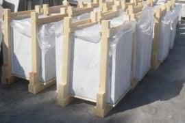 Vloertegel marmer Carrara Chiaro CD wit grijs 800x800x20 mm mat gezoet Prijs per m2