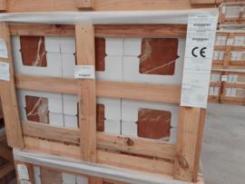 Wandtegel marmer Rojo Alicante rood bruin 305x305x10 mm glanzend Prijs per m2