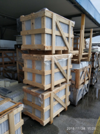 Wandtegel en Vloertegel marmer Carrara Venato grijs wit 610x305x10 mm mat gezoet Prijs per m2