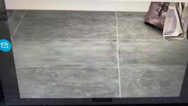 Vloertegel  Black Hardsteen verouderd blauw grijs 60x60 cm mat Prijs per m2