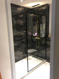 Vloertegel en Wandtegel marmer Black Beauty 610x305x10 mm glanzend Prijs per m2