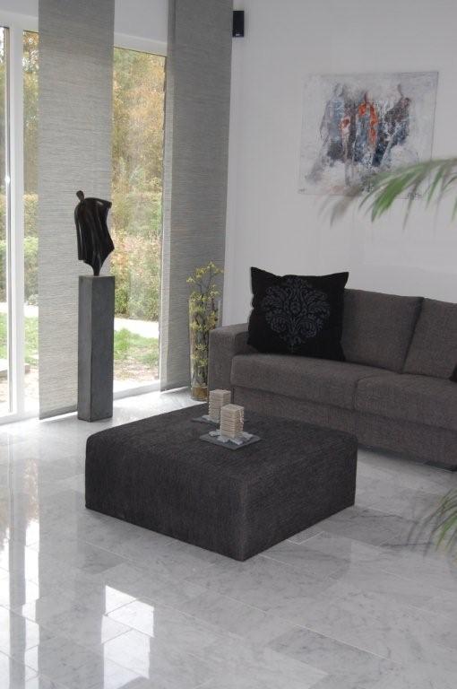 Binnen Tegels Prijzen.Visgraat Vloertegel Marmer Bianco Carrara C Super Wit 400x200x15 Mm
