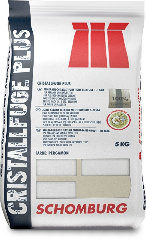 zak 5 kg Schomburg voegsel Cristall PLUS flex Silbergrau Prijs per zak