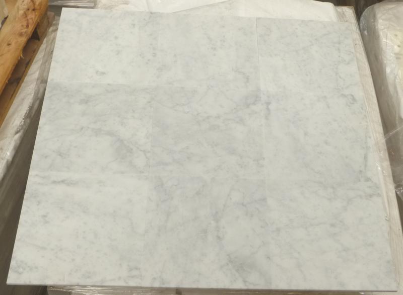 Wandtegel en Vloertegel marmer Carrara grijs wit C/CD  305x305x10 mm mat gezoet Prijs per m2