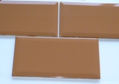 Wandtegel Sphinx glans facet cotto bruin 20x10 cm  type G 67330 Prijs per m2