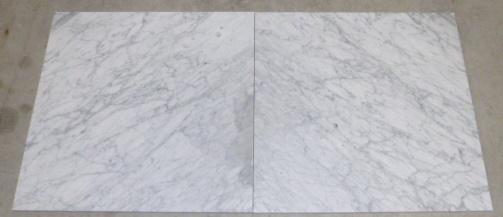 Vloertegel en wandtegel marmer Carrara Super wit C 600x600x14 mm mat gezoet met strakke kanten Prijs per m2