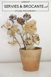 Oude stoffen bloemetjes Sold