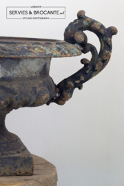 Zwarte antieke Franse vaas