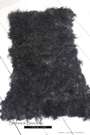 Leervrij schapenvacht zwart/ Leather free sheepfur black
