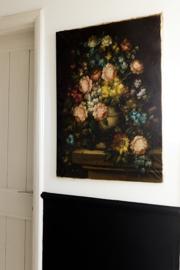 Heel groot bloemenschilderij Sold