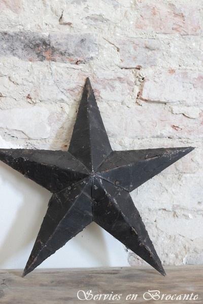 Amish ster zwart SOLD