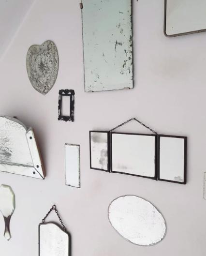 2x rechthoekige spiegel