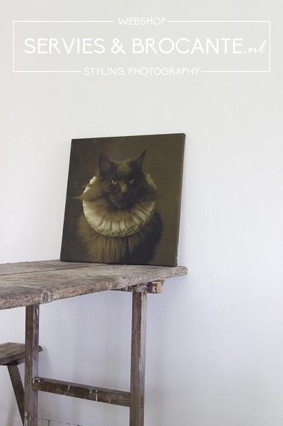 Stoffen schilderij