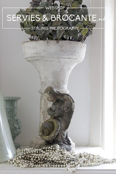 Antieke glazen slinger 80