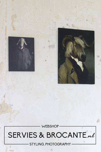 Schilderij geit
