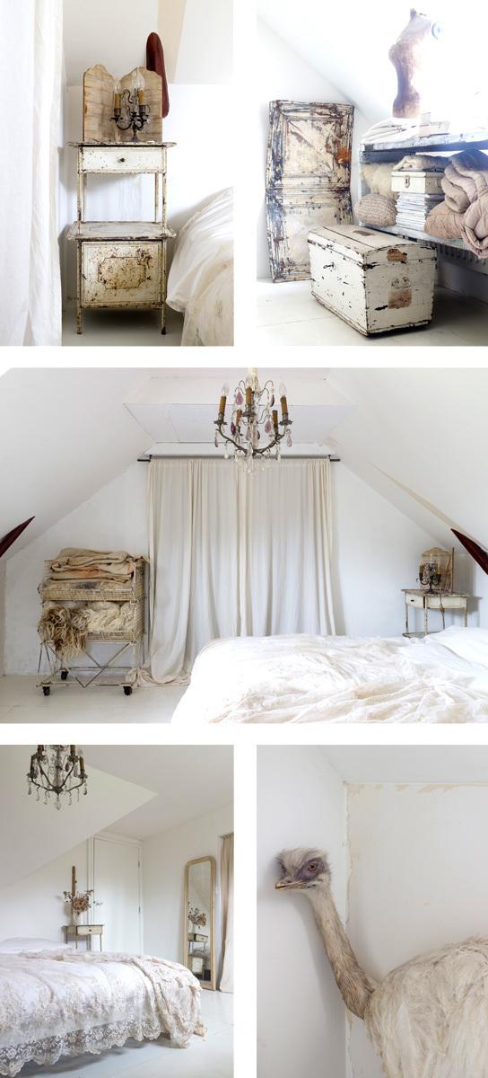 Slaapkamer brocante na