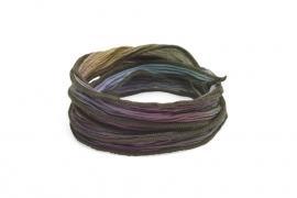 Zijden armband enchanted groen paars