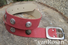 Babouche Riem rood 80 cm