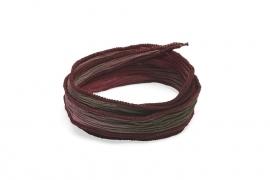 Zijden armband enchanted grijs-amethist