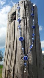Blue Beautiful Poppy ketting.