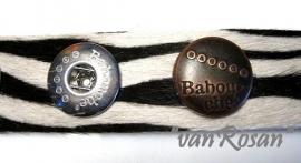 Babouche Armband Zebra
