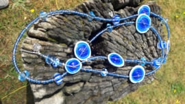 Blue Beautiful Poppy ketting.