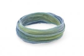 Zijden armband enchanted aqua-groen