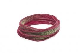 Zijden armband enchanted roze,lime