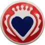 Koningskroon rood wit blauw Babouche Baboos