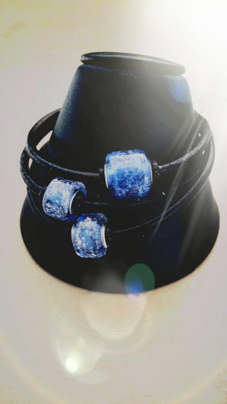 4EverClose armband met 3 tube kralen.