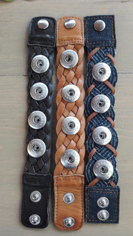 Babouche Denim gevlochten armband