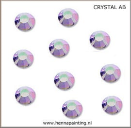 10x Zilver Rose (Crystal AB)- SS16