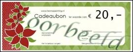 Cadeaubon  t.w.v. € 20,-