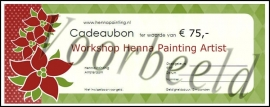 Cadeaubon Henna Painting Artist Workshop