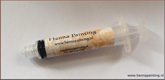 S-Size Henna Spuit (Schoon spoelen van een naald)
