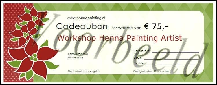 Cadeaubon Henna Painting Artist Workshop