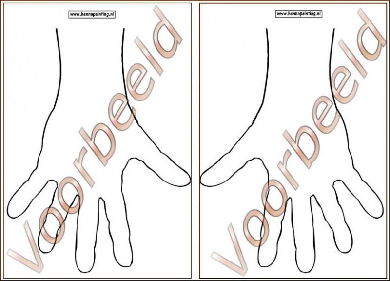 Oefen Lamineer Handen (Rechts en Links)