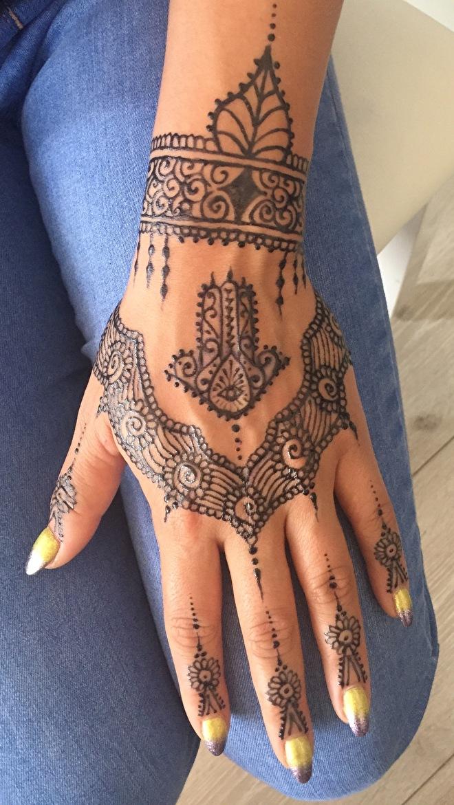 Jagua Hand Tattoo