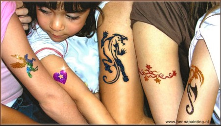 Black en Glitter Tattoo`s