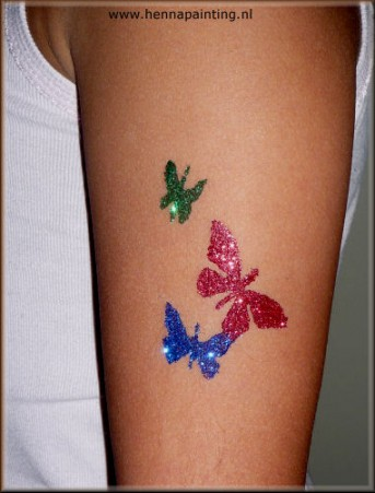 Glitter Sjabloon Vlinders