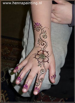 Henna met glitters