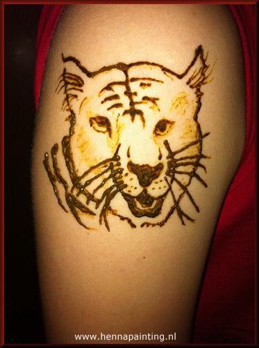 Henna Tattoo Tijger