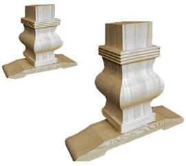 Massief grenen kloostertafel kasteeltafel onderstel afm. 700x290mm