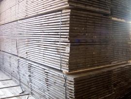 Oude steigerplanken geschuurd & geimpregneerd prijs per meter