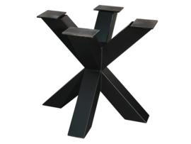Stalen tafel onderstel model dubbele X koker 12x12cm (kort)