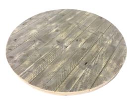 Oud steigerhouten tafelblad rond 60mm dik