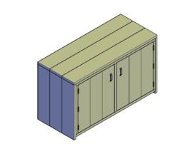 Doe-Het-Zelf bouwpakket dressoir kast van steigerhout