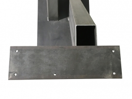 Stalen tafel onderstel model V koker 20x10cm