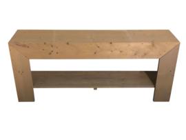 Badkamermeubel nieuw steigerhout behandeld met greywash afm: L180xD40cm (voorraad magazijn artikel)