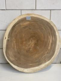 Boomstamtafel rond Suar salontafelblad 80x83x6cm - F10